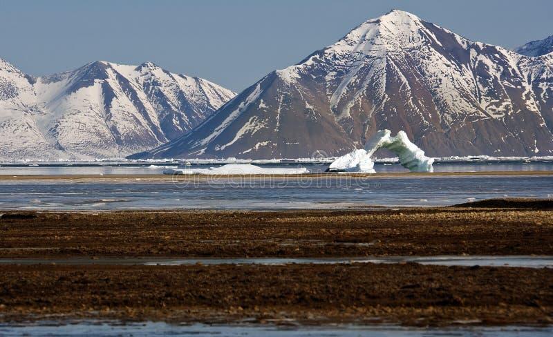 Antarcticahaven - Greenland. Antarcticahaven on the north east coast of Greenland royalty free stock photos