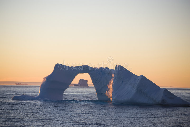 antarcticisberg arkivbild