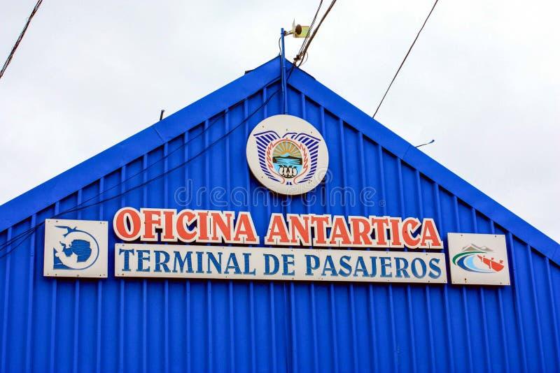Antarctisch Bureau stock foto