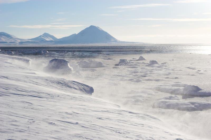 Antarctisch de winterlandschap royalty-vrije stock fotografie