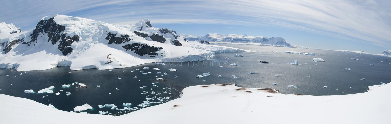Antarctisch panorama royalty-vrije stock fotografie