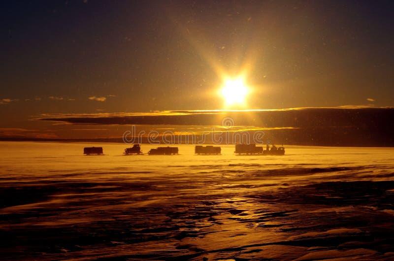 Antarctische trek stock afbeelding