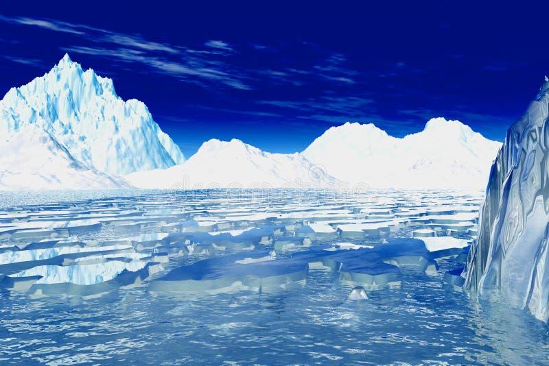 Antarktik vektor abbildung
