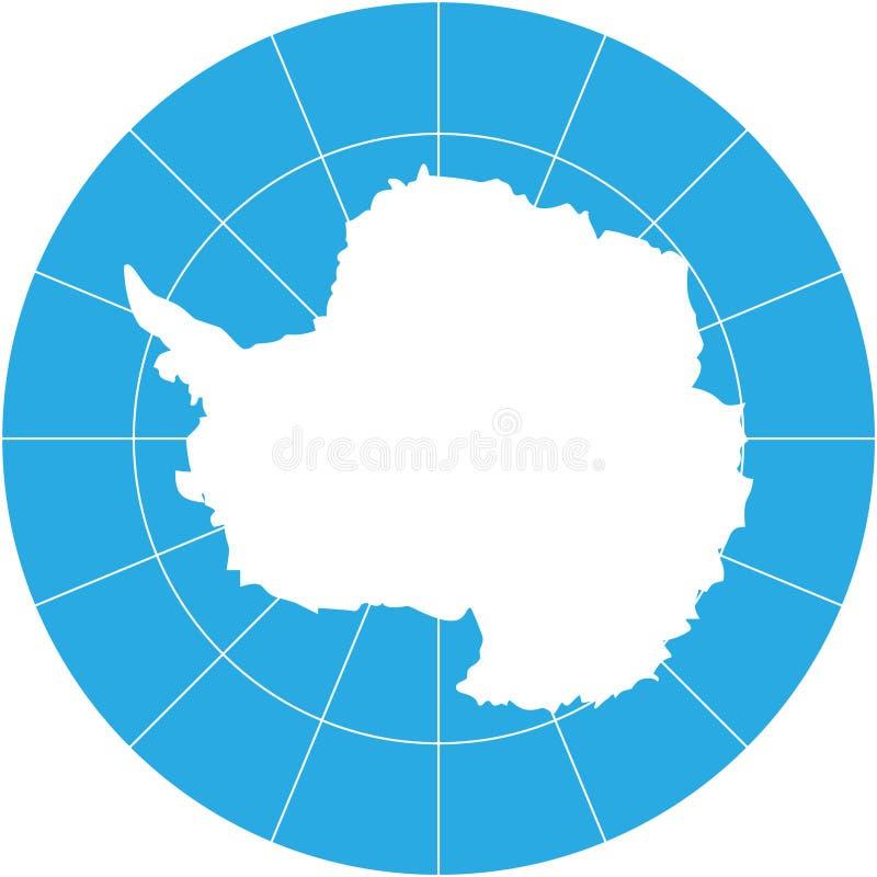 Antarktis royaltyfri illustrationer