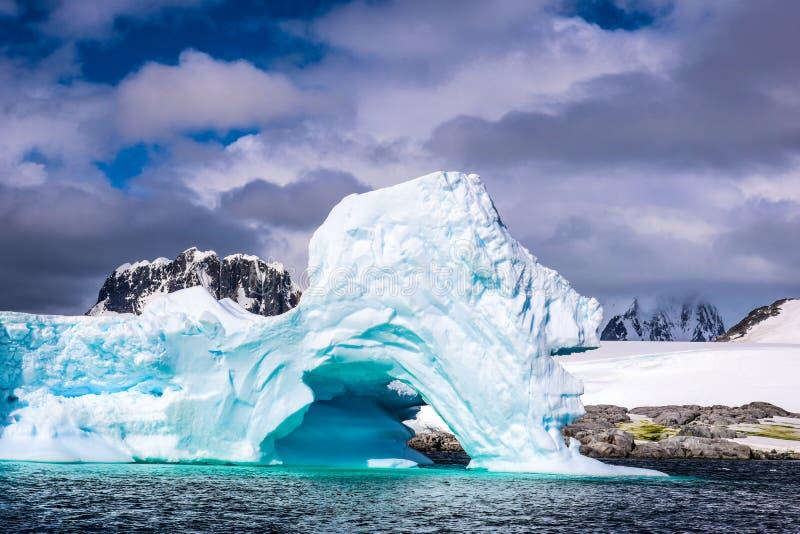 Antarktis i vinter royaltyfria foton
