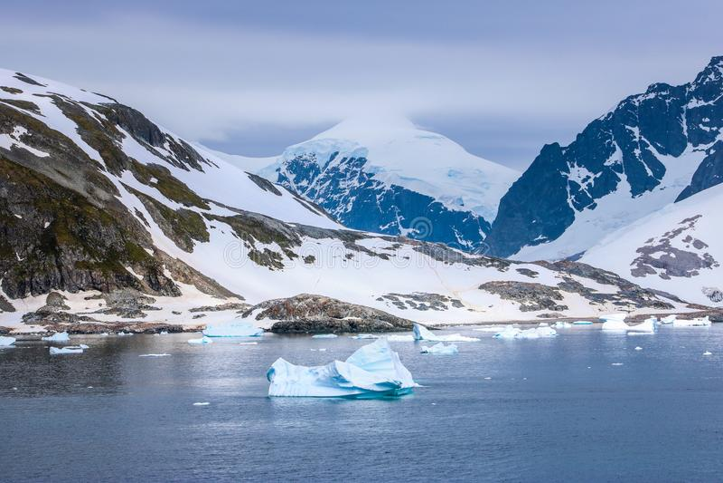 Antarktis i vinter fotografering för bildbyråer