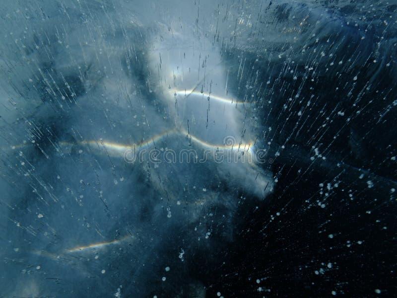 Antarktische Beugung #15 des Eiswunders 2014 des Lichtes im Eis lizenzfreie stockbilder