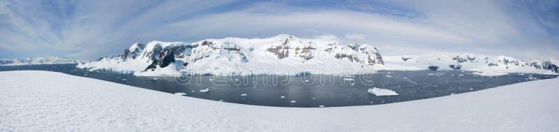 Antarktisches Panorama lizenzfreie stockfotos