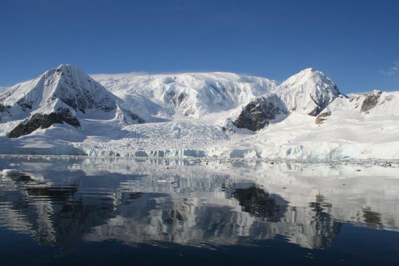 Antarktisfjärdwilhelmina fotografering för bildbyråer