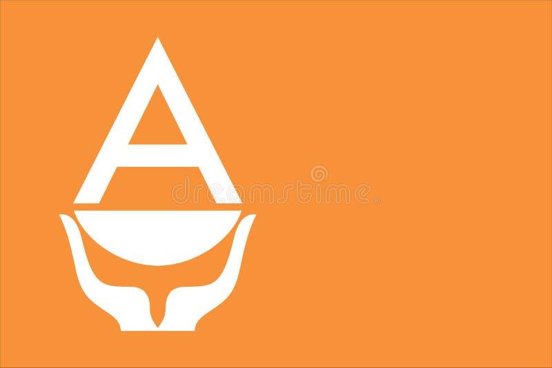 Antarktisflagga stock illustrationer