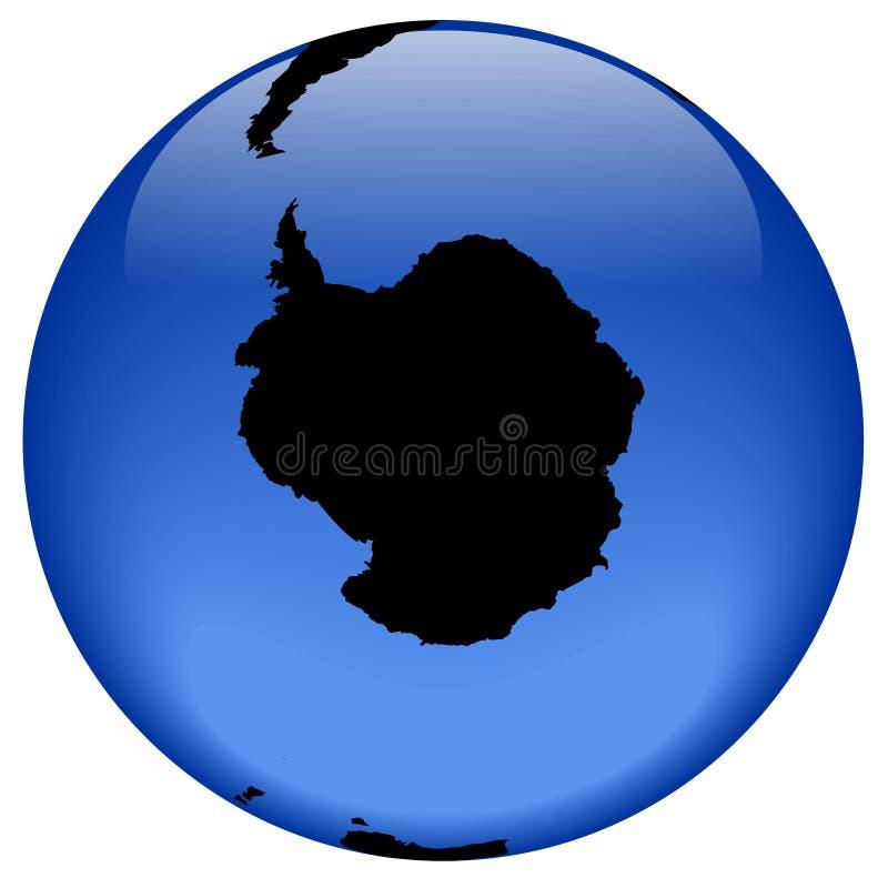 antarktyka globe widok royalty ilustracja