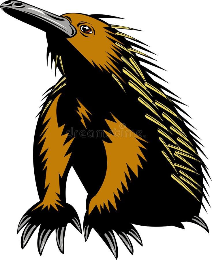 Anteater coperto di spine del Echidna illustrazione di stock