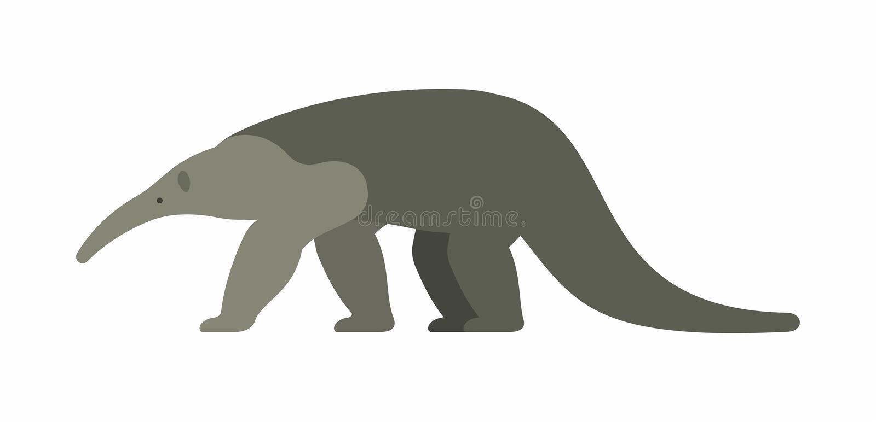 Anteater gigante illustrazione di stock