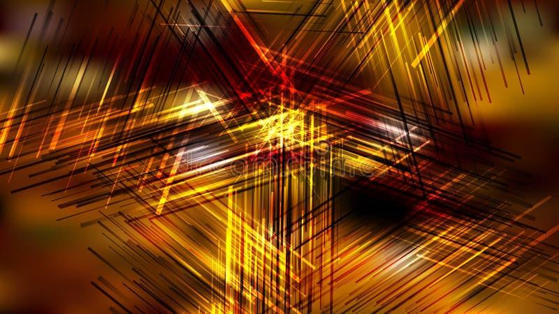 Antecedentes Abstract Dark Orange Chaotic Linhas de Interseção ilustração stock