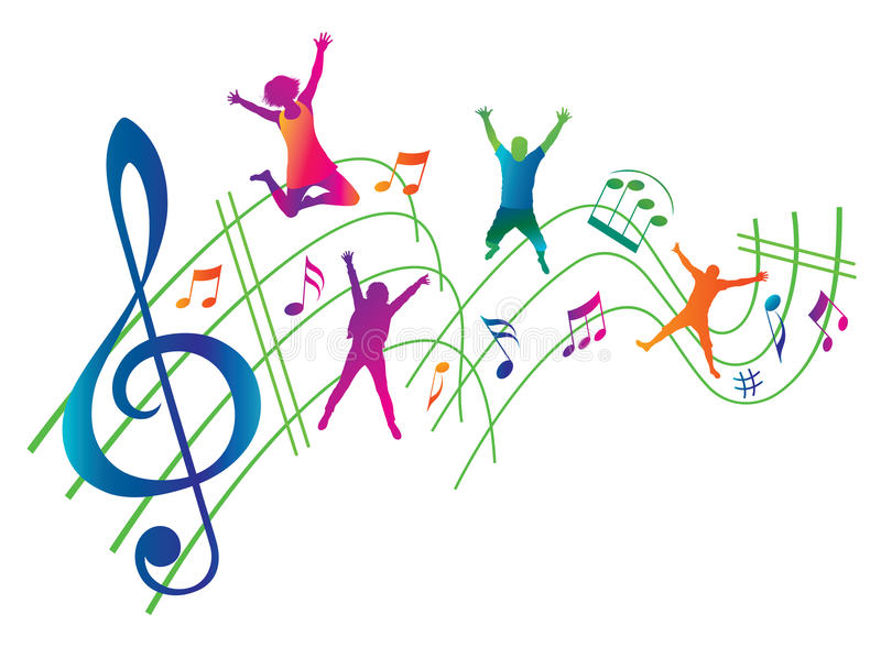 Antecedentes abstractos de la música. libre illustration