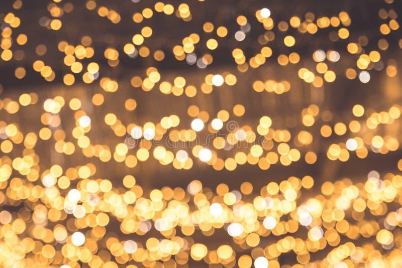Antecedentes abstractos del bokek del oro. Fondo de oro de Navidad. El dorado telón de fondo de las vacaciones foto de archivo libre de regalías