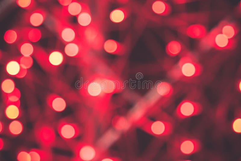 Antecedentes abstractos del bokek rojo. Antecedentes rojos de Navidad. Fondo rojo de vacaciones fotografía de archivo libre de regalías