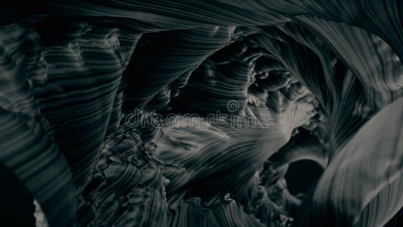 Antecedentes abstractos El futurista túnel de Fairytale el aterrador fondo subterráneo y la textura para el diseño fotografía de archivo