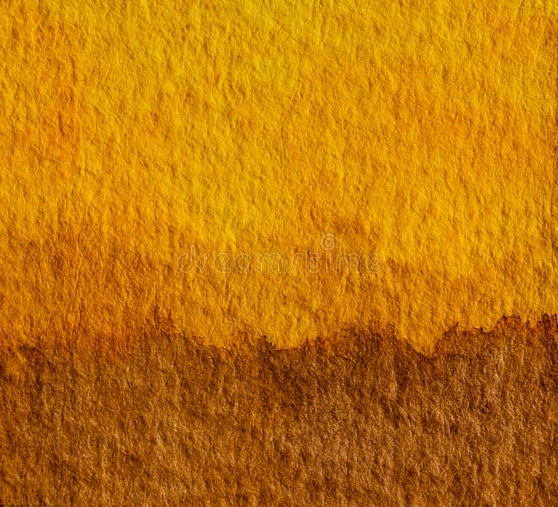 Antecedentes artísticos de pintura de color amarillo y marrón. Concepto de tono de la Tierra para los colores naturales del suel foto de archivo libre de regalías