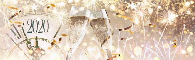 Antecedentes da Celebração de Ano Novo no Véspera de 2020 fotos de stock royalty free