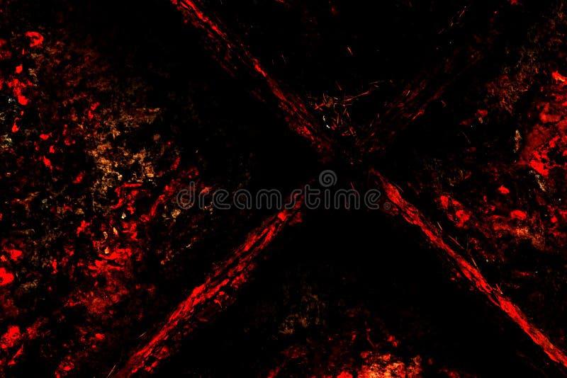 Antecedentes de Grunge: El rojo y el negro foto de archivo