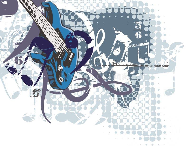 Antecedentes de instrumento de música ilustración del vector