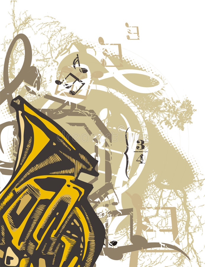Antecedentes de instrumento de música libre illustration