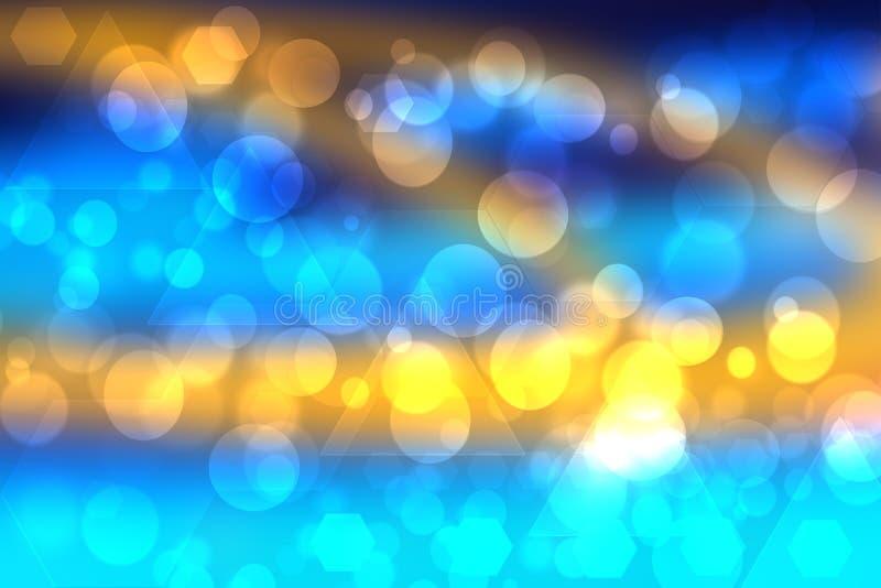 Antecedentes de la biología molecular abstracta o de la ciencia química Tecnología futurista moderna color azul turquesa amarillo imágenes de archivo libres de regalías