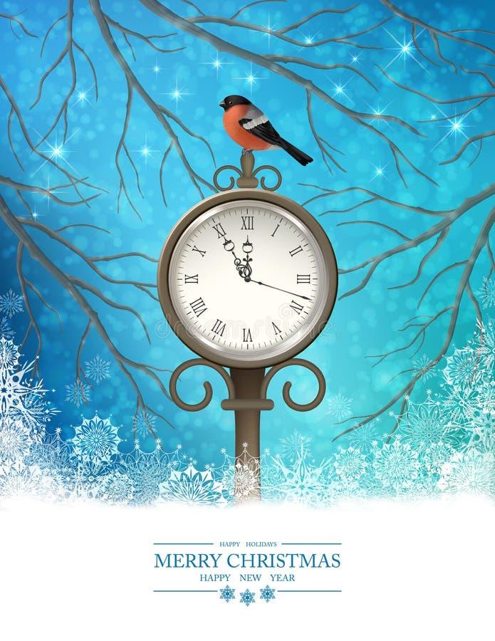 Antecedentes de la escena de la Navidad del invierno del vector libre illustration