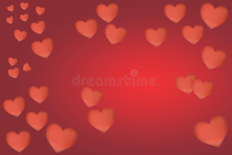 Antecedentes de los corazones del día de tarjetas del día de San Valentín stock de ilustración