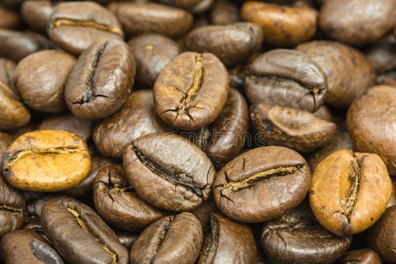 Antecedentes de los granos de café fotografía de archivo