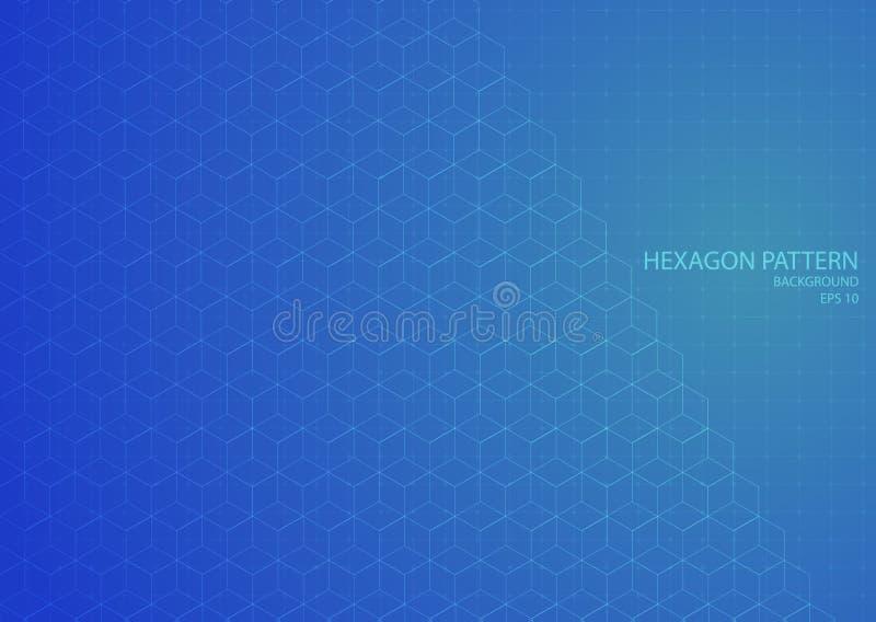 Antecedentes de patrones hexagonales diseño moderno línea de cuadrícula estilo arte abstracto libre illustration