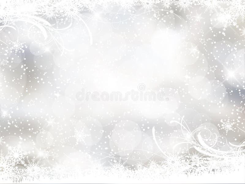 Antecedentes decorativos de la Navidad ilustración del vector