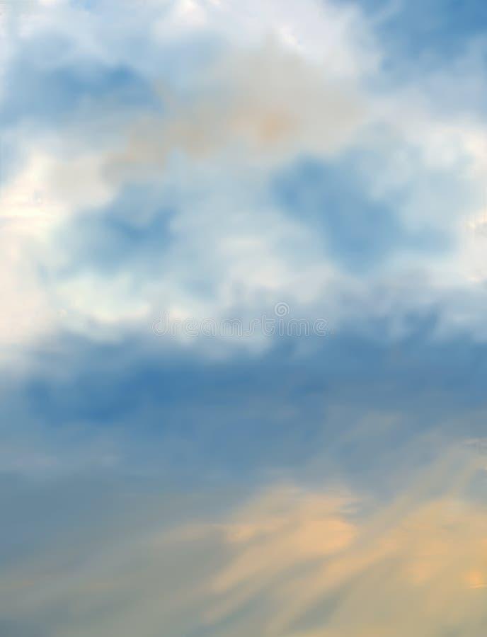 Antecedentes do céu azul frio fotografia de stock royalty free