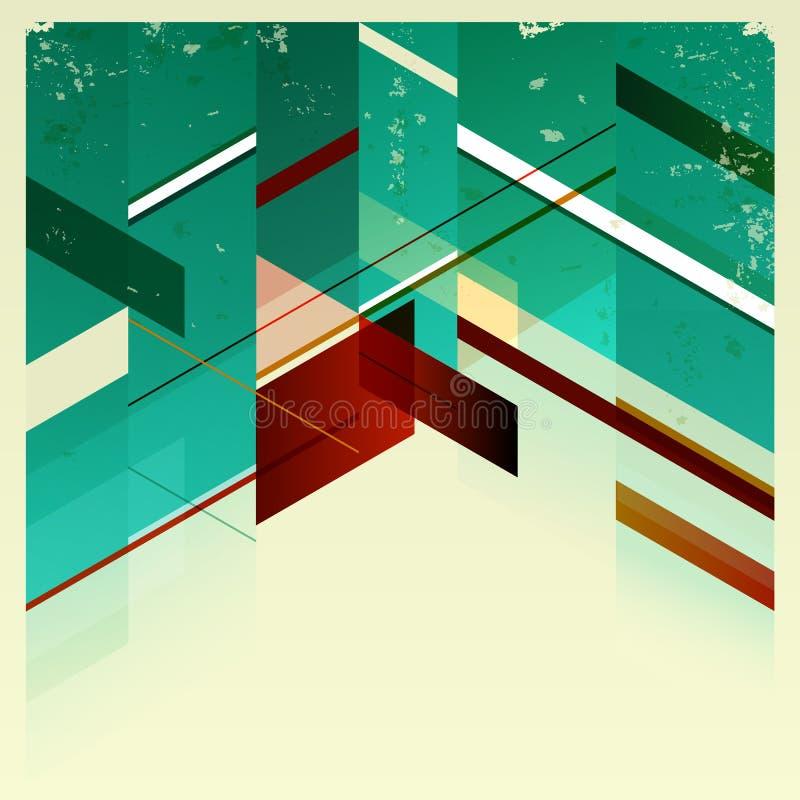 Antecedentes geométricos retros abstractos. stock de ilustración