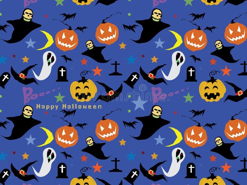 Antecedentes inconsútiles del modelo de Halloween: Ejemplo del vector stock de ilustración