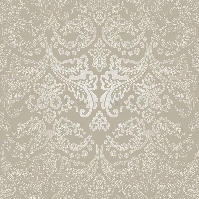 Antecedentes inconsútiles florales del modelo del vintage del damasco. ilustración del vector