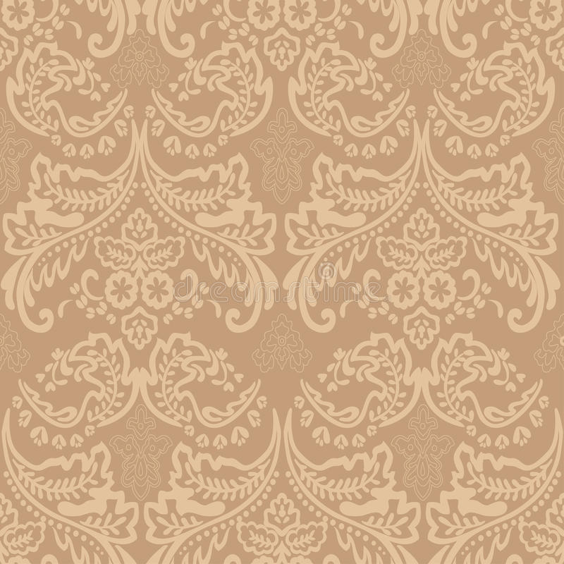Antecedentes inconsútiles florales del modelo del vintage del damasco. stock de ilustración