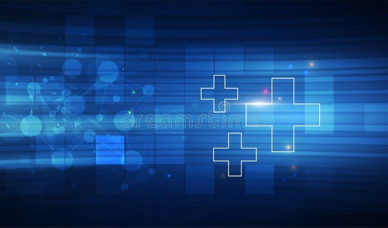 Antecedentes médicos, Conectividad Global Adecuada para Atención Médica y Tema Médico ilustración vectorial ilustración del vector