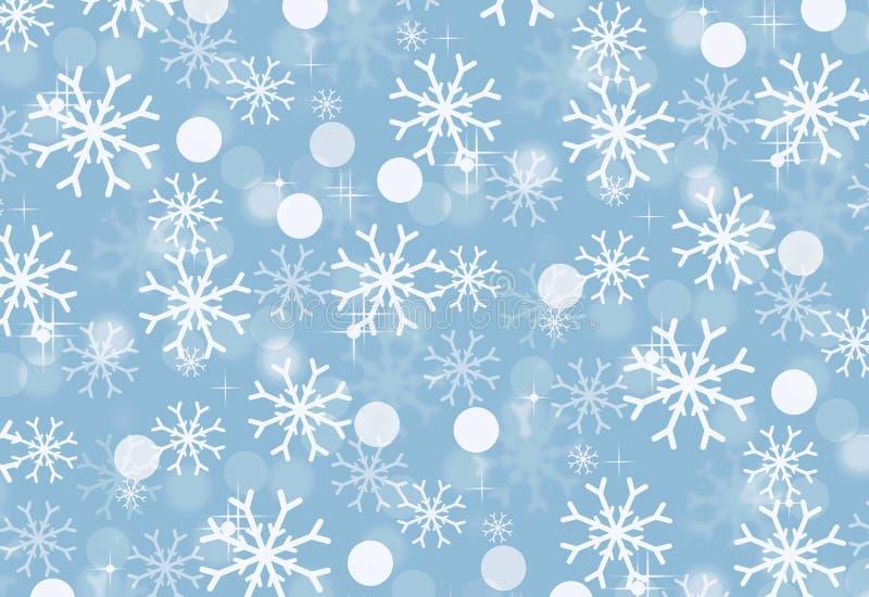 Antecedentes navideños con copos de nieve Patrón invernal Diseño de ilustración fotos de archivo libres de regalías