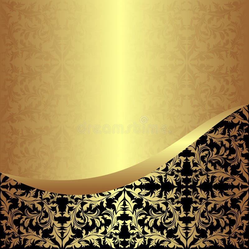 Antecedentes ornamentales de oro lujosos. ilustración del vector