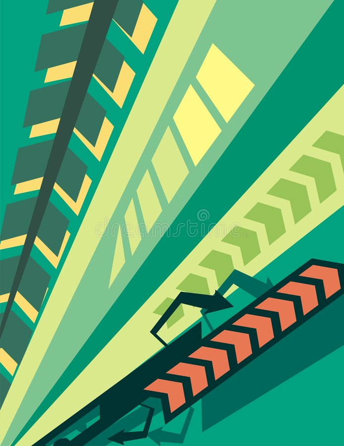 Antecedentes urbanos stock de ilustración