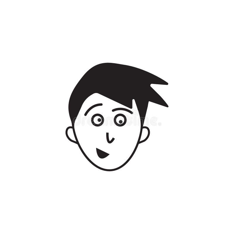 antecipação do ícone da cara Elemento da ilustração humana dos elementos das emoções Ícone superior do projeto gráfico da qualida ilustração royalty free