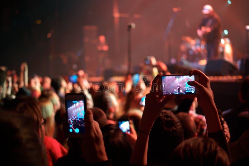 Anteckna konsert arkivfoto