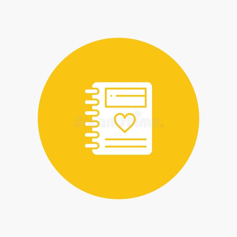 Anteckningsbok förälskelse, hjärta, bröllop royaltyfri illustrationer