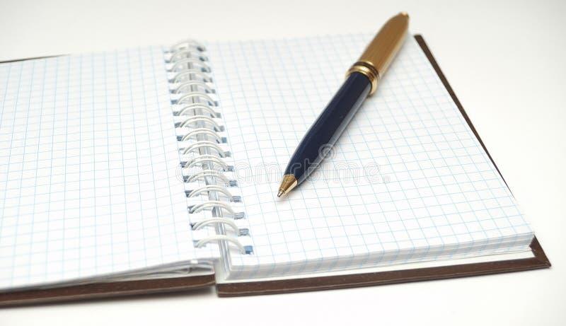 anteckningsbok för kontroll ii arkivfoton