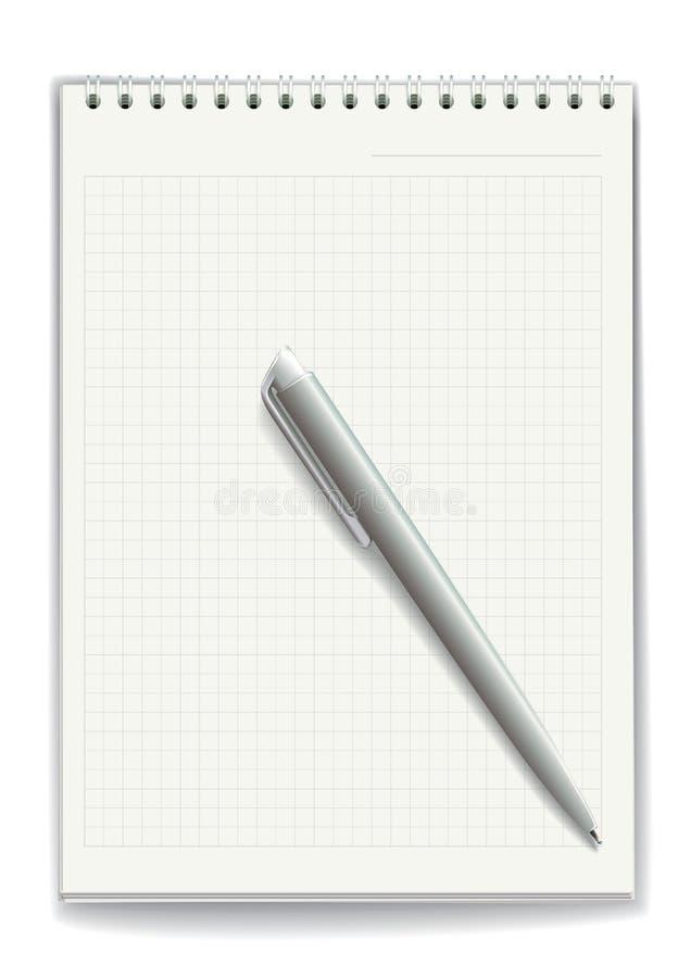 anteckningsbok också vektor för coreldrawillustration vektor illustrationer