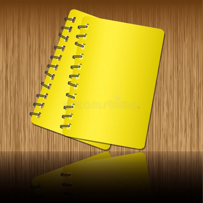 anteckningsbok två stock illustrationer