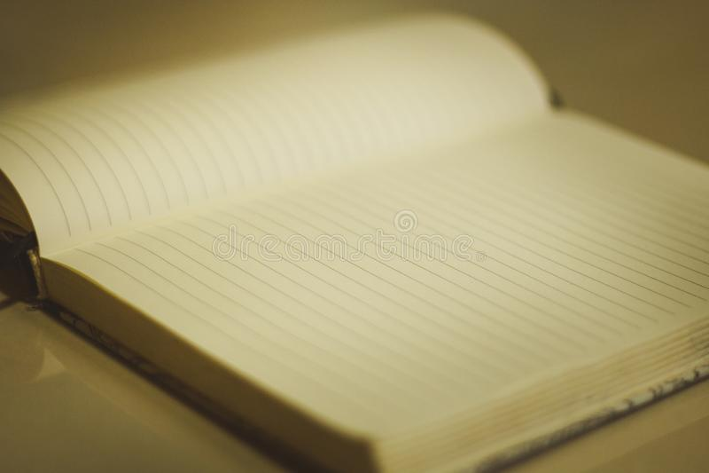 Anteckningsbokbok da arkivfoto