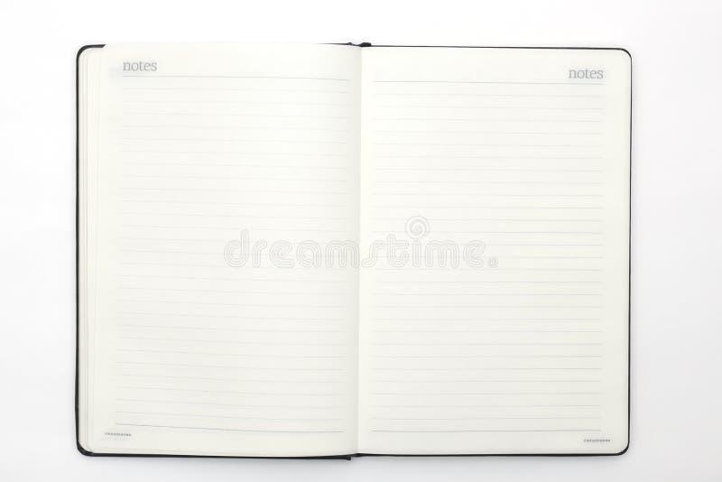 Anteckningsboken och skrivar på vitbakgrund Abstrakt bakgrund för att dra och att skissa dagbok för affär och studie fotografering för bildbyråer
